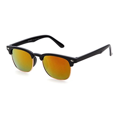 Semi Pro Costume Uk (LOMOL Unisex Trendy UV Protection Semi-Rimless Wayfarer Sunglasses(C3))