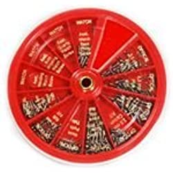 SE JT69250 250-Piece Set of Eyeglass & Watch Repair Screws with Convenient Revolving Organizer