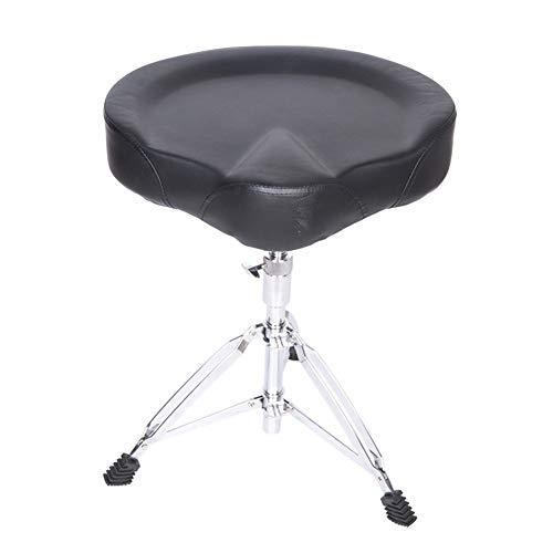 WEIYV-Drum Stool , Drum Throne Drum Stool Drum Stool Adult Drum Seat Child Drum Stool Drum Chair Adjustable Height Lifting Suede (Color : Black, Size : 45-68cm)