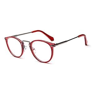 LOMOL Fashion Korean Personality Student Style Transparent Lens Frame Glasses For Men&Women(C5)