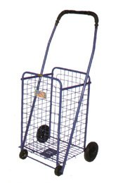 Black Shopping Cart folds flat for storage 150 lb capacity double basket liner included by Perfectbuyz