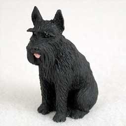 Conversation Concepts Giant Schnauzer Miniature Dog Figurine - Black