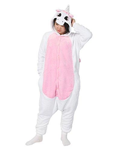 cosplay cappuccio di Chic Rosa Mailanda Très notte unisex adulti Halloween con da Unicorno pigiama costume costume R4UWpwqS