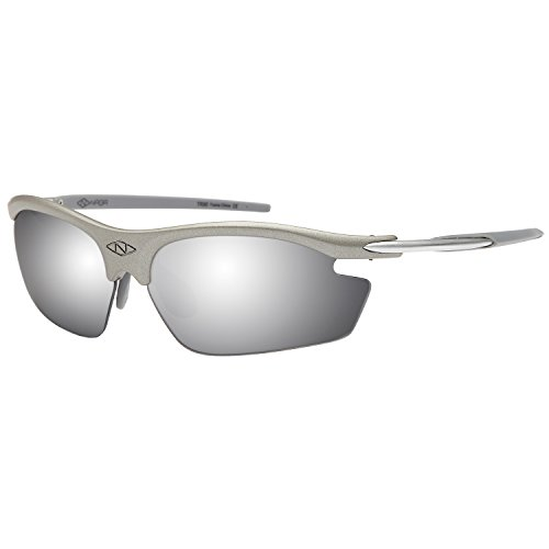 NAGA Sports Pioneer Model UV400 Sports Sunglasses - (NON Polarized Mirror Lens Grey (Grey Polarized Mirror)