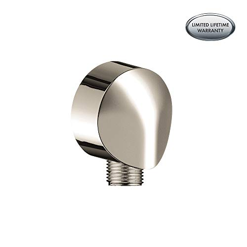 (Hansgrohe 27458833 Wall Outlet with Check Valve, Polished Nickel)