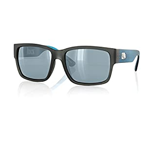 CARVE Hack Sunglasses Matt Grey/Cyan Polarized