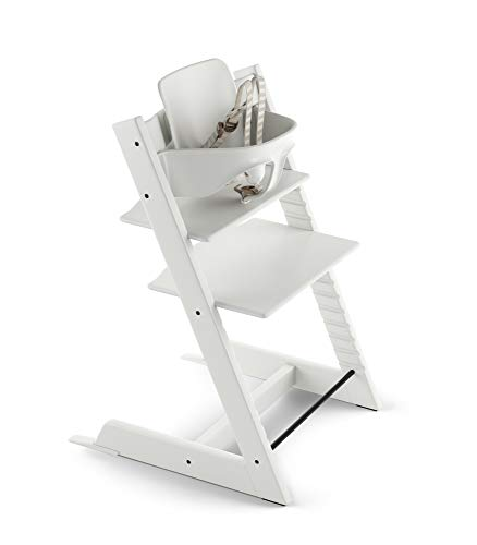 Stokke 2019 Tripp Trapp High Chair, Includes Baby Set, White