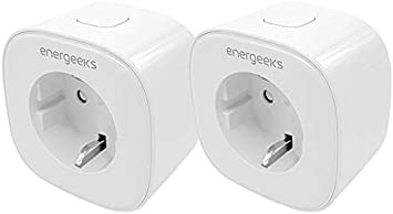 Pack de 2 enchufes wifi inteligentes Energeeks: Amazon.es: Bricolaje y herramientas