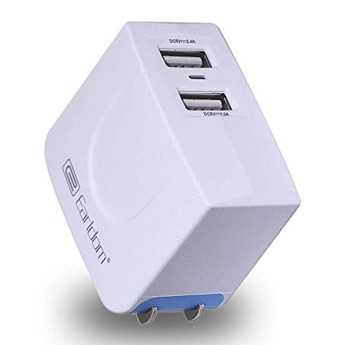 USB Wall Charger, JULAM Travel Charger Dual Port 3.4A Output & Foldable Plug Power Adapter Compatible MicroMax Canvas Juice A1 Q4251 5.0