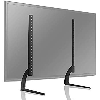 """Modern Tabletop TV Stand Universal Base Replacement 24-65/"""" Screens"""