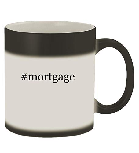#mortgage - 11oz Hashtag Magic Color Changing Mug, Matte Black