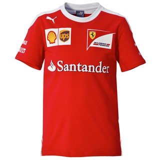FERRARI F1 Kinder Kids Team Tee 2016 T-Shirt, Rot, 152