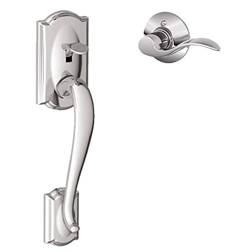 Schlage FE285-CAM-ACC-LH Camelot Lower Handleset for Electronic Keypad with Acce, Polished Chrome ()