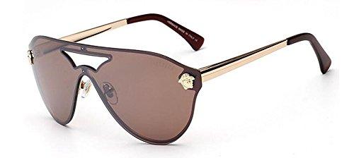 polarisées du Tranche en cercle retro style métallique de inspirées Lennon soleil Brune rond lunettes vintage OqE4IT