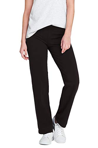 Lands' End Women's Starfish Mid Rise Straight Leg Elastic Waist Pull On -