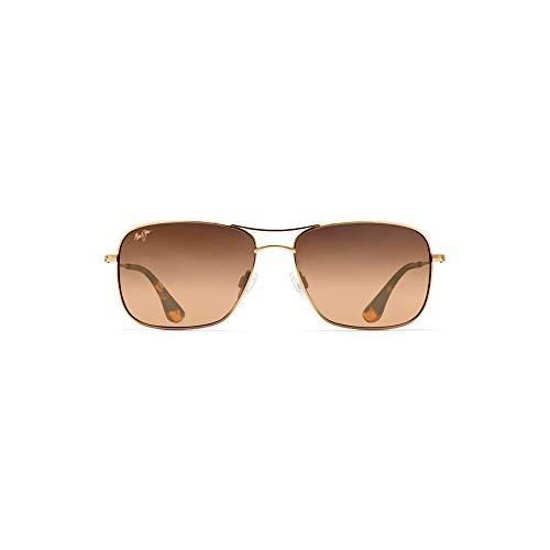 - Maui Jim HS246-16 Gold/HCL Bronze Lens Wiki Wiki Aviator Sunglasses Polarised