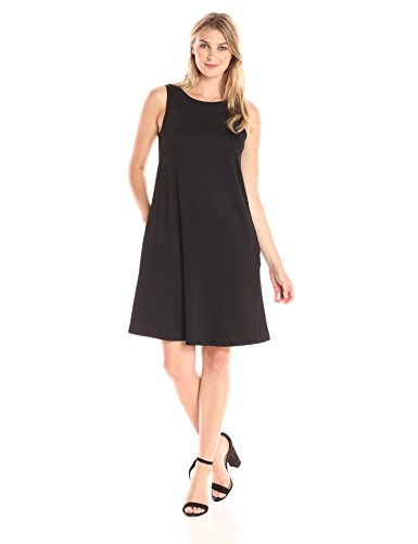 Dress Women's Swing Black Solid Kasper qfTZUq