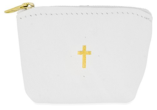 Genuine Italian Leather Rosary Pouch - Pouch White