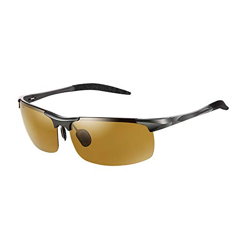 Driving Glasses Reduce Glare from Headlights Safety Night Vision Photochromism Lens Crystal Clear Polarized Sunglasses for Men Women Driving/Fishing/Outdoor Sports