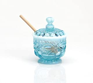 product image for Mosser Glass Eye Winker Opal Sugar Dish with Lid in Aqua