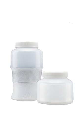 ES Robbins 200648 Collapsible LPDE (Low Density Polyethylene) Container, White Screw Cap, 500 ml Capacity, Natural (Pack of - Usa Es Collection