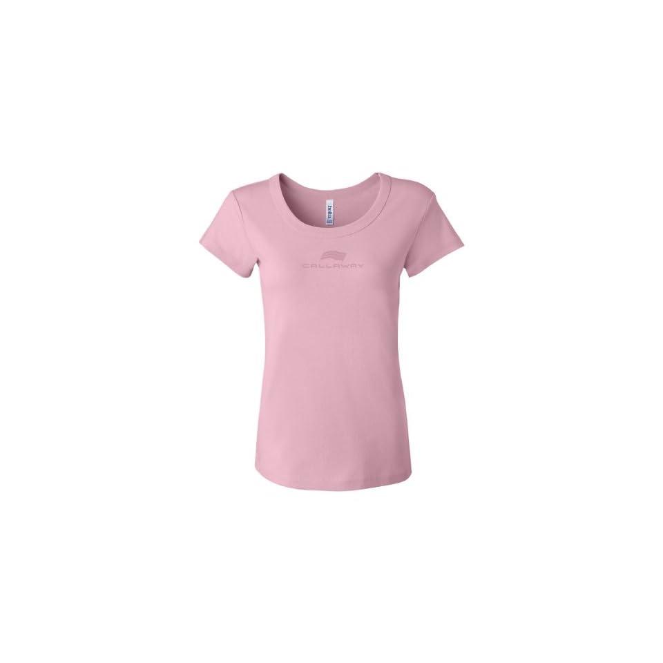 Callaway Cars 980.92.9356.M Pink Medium Embroidered Ladies T Shirt