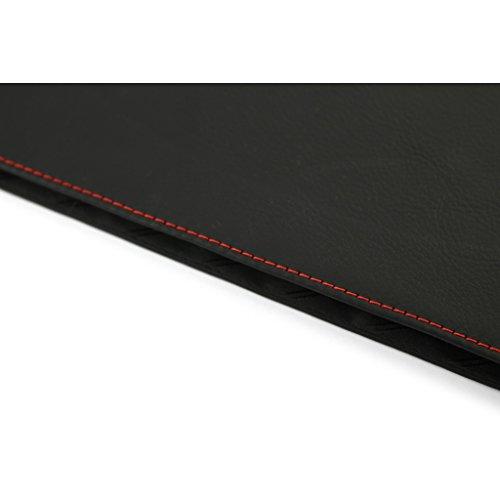 A.P. Donovan - Custodia in pelle per iPad Pro 12.9 - protegge il tablet dai graffi, Manica, organizzatore del sacchetto (design sottile) Nero