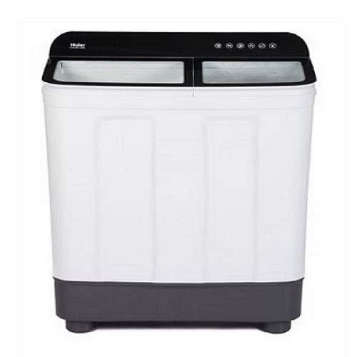 Haier 10 Kg Semi-Automatic Top Loading Washing Machine (HTW100-178BK, Black & White)