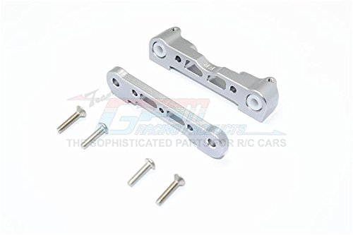 Arrma Kraton 6S BLX (AR106005/106015/106018) Upgrade Parts Aluminum Front Lower Suspension Mount - 1Pr Set Gray Silver ()