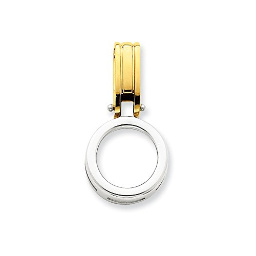 14k Two-tone Fits up to 3mm, 6mm Reversible Omega Slide by Jewels By Lux