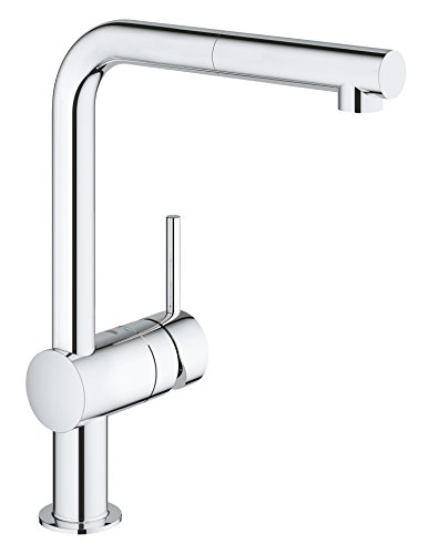 GROHE 32168000 Minta Kitchen Tap with Pull-Down Spray Head