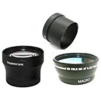 Wide Lens + Tele Lens + Tube bundle for Olympus C-5060, Olympus C-7070 Zoom