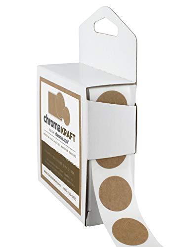 ChromaLabel Kraft Dot Labels | 1,000/Dispenser Box (3/4 inch) ()