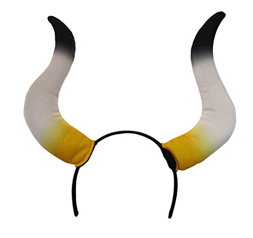 Nicky Bigs Novelties Large Bull Horns Costume Headband, Multi, One Size
