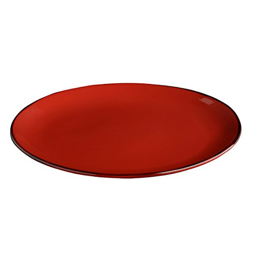 (Italian Dinnerware - Oval Serving Platter - Handmade in Italy from our Rosso Collection)
