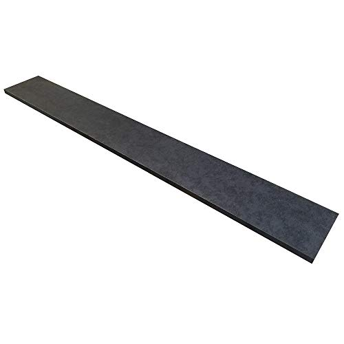 - Fretboard Blank, Unslotted and Unradiused Richlite Guitar Fingerboard for Musical Instrument Restorations and New Productions (Black Diamond)