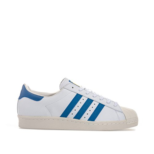 adidas Originals Superstar 80s Sneaker G61068 White/Dark Royal/Chalk Gr. 48 (UK 125)