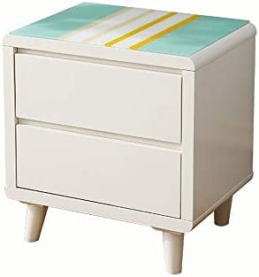 Amazon.com: QING MEI-Bedside table Modern Minimalist Stained ...
