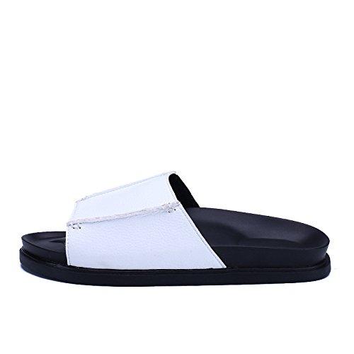 Il nuovo sandali alunno Antiscivolo parte inferiore moda selvaggio Il nuovo Tempo libero sandali Uomini .bianca.US=10,UK=9.5,EU=44,CN=46