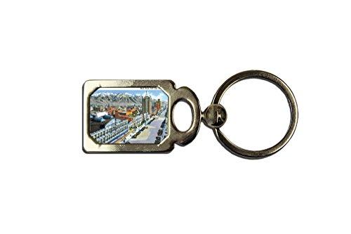 Main Street, Salt Lake City, Ut One Side Framed Metal Key Chain from Style in Print