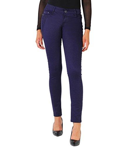 KRISP Pantalones Vaqueros Mujer Pitillo Rectos Moda Elásticos Azul Marino (9276)