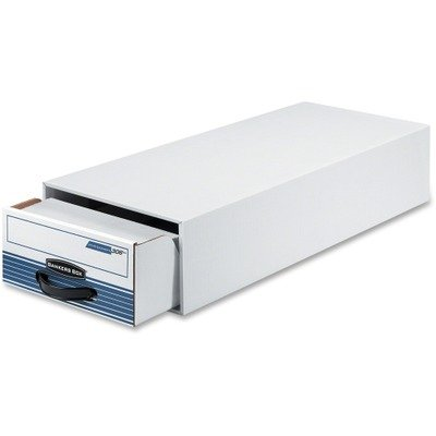 Bankers Box 00306 Stor/drawer steel plus file, 5x8 card size,9-1/4x5-5/8x23-1/2, white
