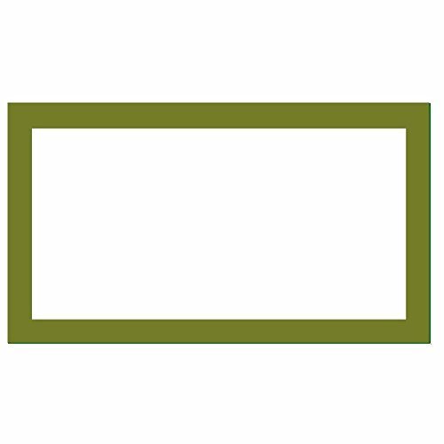 Place Cards - Solid Color - Flat Style - Party Supplies - Table Seat Placement - Any Occasion or Event - Set of 50 (Olive) (Dinner Olive Green Plate)