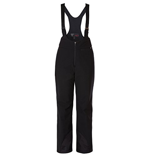 Fera Women's Stowe Stretch Bib Pants, 6/Regular, 001R Black