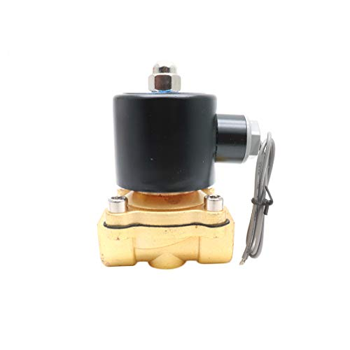 ZXHAO 2W-160-15 DC110V Electric Solenoid Valve Water Air Gas Normally Closed Replacement Brass Valve for Use with Pipelines in Water Air and Diesel Applications