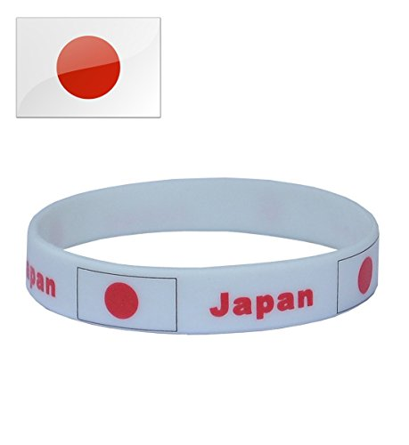 TDoperator JAPAN Flag Silicone Bracelet FIFA World Cup 2018 For Soccer Fan Unisex Design Soft and Durable Wristband for National Football Supporters Fans Fashion Sport Wrist Strap Souvenir Gift ()