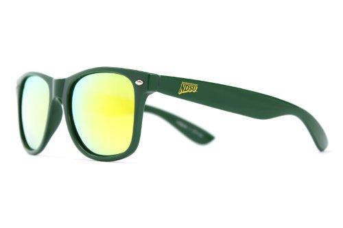 NCAA North Dakota  State Bison NDSU-1 Green Frame, Gold Lens Sunglasses, One Size, - Dakota Sunglasses
