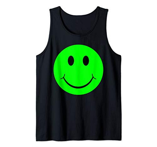 Emoji Green Smiley Face Emoticon Disgusted Texting Tank