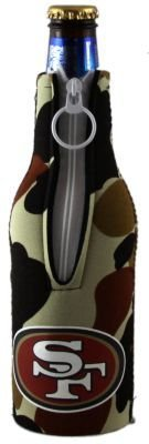 (SAN FRANCISCO 49ERS CAMO BOTTLE SUIT KOOZIE COOZIE)