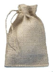 - 4 X 6 Burlap Bags with Drawstring - Lot of 24 by Premium Bags